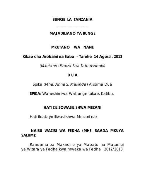 La Tanzaniaparliament goTz Tanzaniaparliament Bunge Bunge goTz La Bunge La Tanzaniaparliament w80PknO