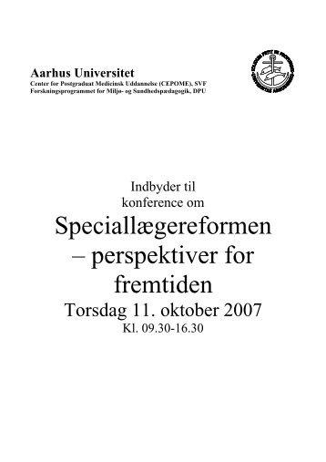 Speciallægereformen – perspektiver for fremtiden - Institutleder til ...