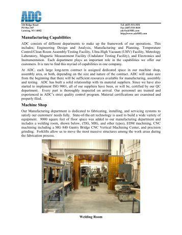 machine shop capabilities