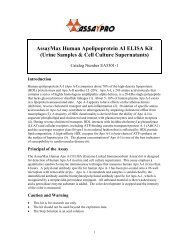 AssayMax Human Apolipoprotein AI ELISA Kit (Urine ... - Labodia