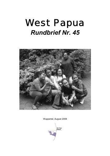 Rundbrief 45 August 2008 - West Papua Netzwerk