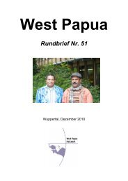 Rundbrief 51 Dezember 2010 - West Papua Netzwerk