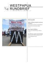 Rundbrief 52 Januar 2011 - West Papua Netzwerk