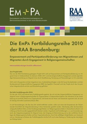 Informationen (PDF, 95 KB) - bei der RAA Brandenburg