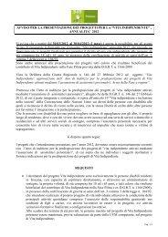Bando VI 2012 - Allegato C - SdS Pistoia - Comune di Montale