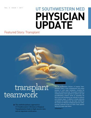 transplant teamwork - UT Southwestern