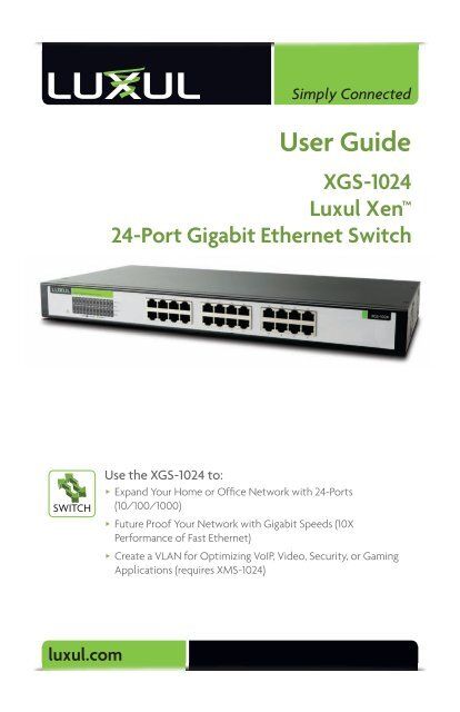 Luxul XGS 1024 24-port gigabit switch