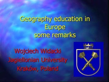 Geography education in Europe some remarks - HERODOT ...