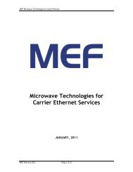 Microwave Technologies for Carrier Ethernet Services - MEF