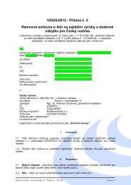 VZ025/2012 - Příloha č. 3 Rámcová smlouva o dílo na zajištění ...