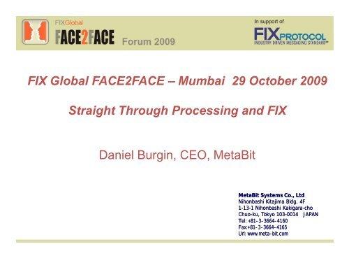 FIX Global FACE2FACE – Mumbai 29 October 2009 ... - Plus Concepts
