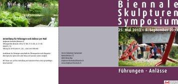 Flyer «Führungen» als Pdf - biennale-skulpturen-symposium