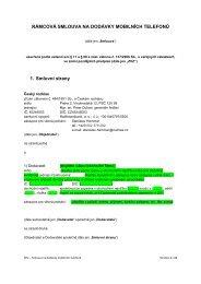 Příloha č 2- Závazný návrh rámcové smlouvy - E-ZAK Český rozhlas
