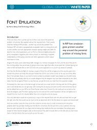 Font Emulation - Global Graphics