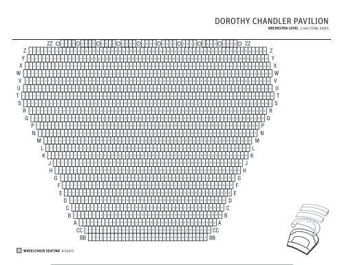 Seating chart dorothy chandler pavilion