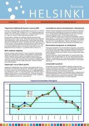 Helsingin matkailun kehitys vuonna 2003, pdf-tiedosto, koko 131 kt
