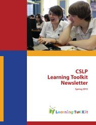 CSLP Learning Toolkit Newsletter - Department of Education