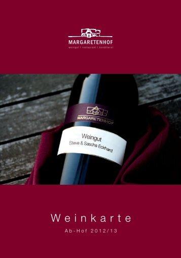 Weinkarte Ab-Hof 2012-2013 - Weingut Margaretenhof
