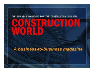 Construction World - Crown Publications
