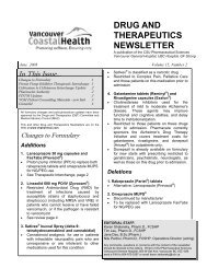 Drug and Therapeutics Newsletter - Pharmaceutical Sciences