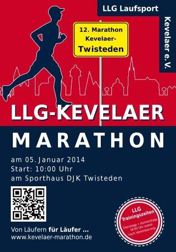 Ausschreibung 2014 - LLG Kevelaer-Marathon