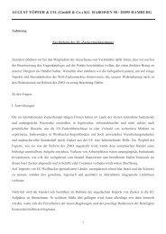 AUGUST TÖPFER & CO. (GmbH & Co.) KG RABOISEN 58 ‡ 20095 ...