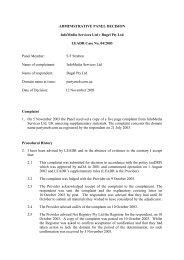 ADMINISTRATIVE PANEL DECISION InfoMedia Services ... - auDA