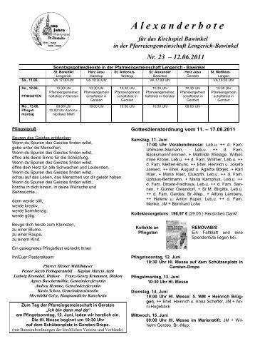 Nr.23 12.Juni 2011 - St. Alexander Bawinkel