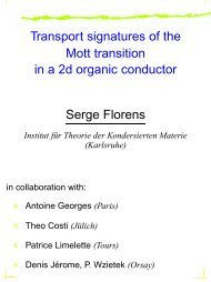 Transport signatures of the Mott transition in a 2d organic conductor ...