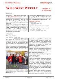 WILD WEST WEEKLY - Ausgabe 75 - Editorial ... - Rennserien-West