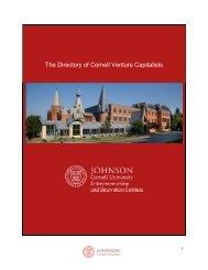 The Directory of Cornell Venture Capitalists - Johnson Graduate ...