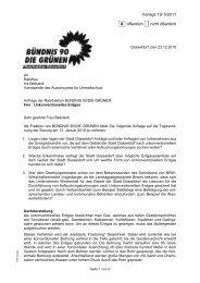 Anfrage der Grünen im Stadtrat Düsseldorf vom ... - Wibke Brems