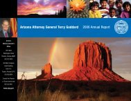 Arizona Attorney General Terry Goddard 2006 Annual Report