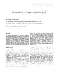 Phytoremediation of nitroglycerin in smokeless powders