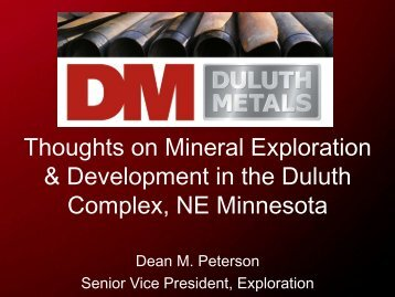 Thoughts on Mineral Exploration & Development in the Duluth ...