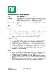 2011 Youth Advisory Group Terms of Reference - Triathlon New ...