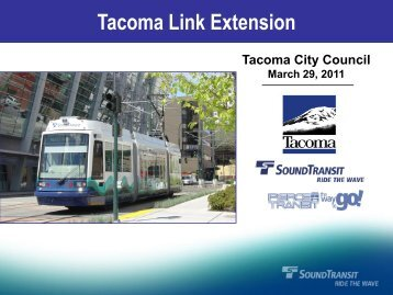 ST PowerPoint Template - City of Tacoma