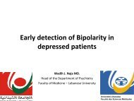 Early Detection of Bipolarity in depressed patients - Lebanese ...