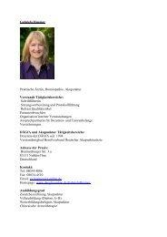 Gabriela Huemer Praktische Ärztin, Homöopathie ... - bei der DÄGfA