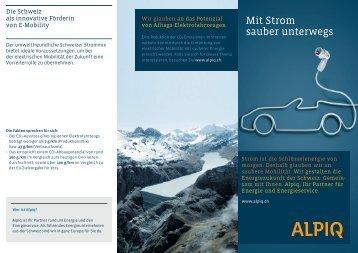 Mit Strom sauber unterwegs: Flyer PDF (968 KB) - Alpiq