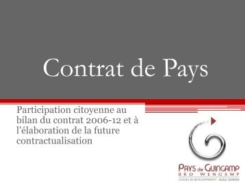 Contrat de Pays - Pays de Guingamp