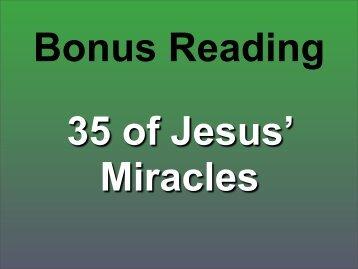 35 Miracles of Jesus - MyPreachingPen