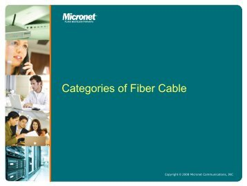 Categories of Fiber Cable