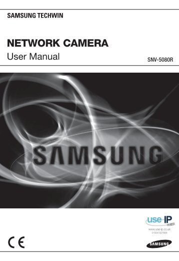 Samsung SNV-5080R Dome Camera User Manual - Use-IP