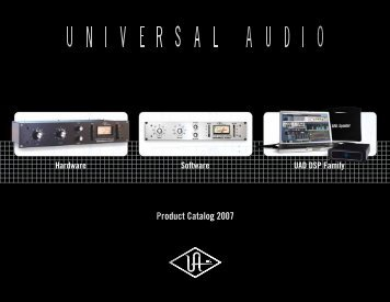 Software UAD DSP Family Hardware - Univers-sons.com