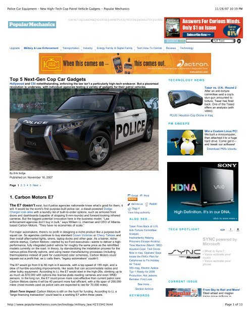 Police Car Website >> Police Car Equipment New High Tech Cop Patrol Vehicle