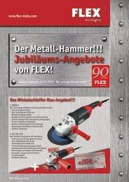 Der Metall-Hammer!!! Jubiläums-Angebote von FLEX!