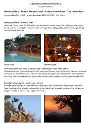 Mananga Safaris - 4 nætter Mananga Lodge – 4 ... - African Adventure