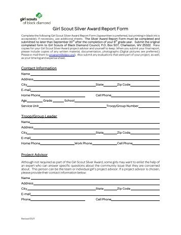 Presidential Service Award Order Form - the Girl Scouts, Hornets ...