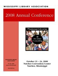 2008 Annual Conference - Mississippi Library Association